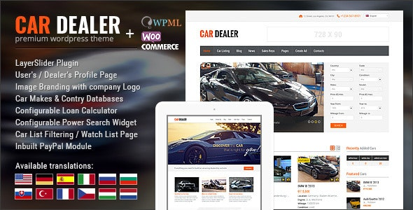 Download Car Dealer WordPress Theme Nulled