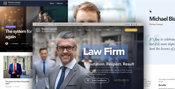 Download Law Firm WordPress Theme Nulled