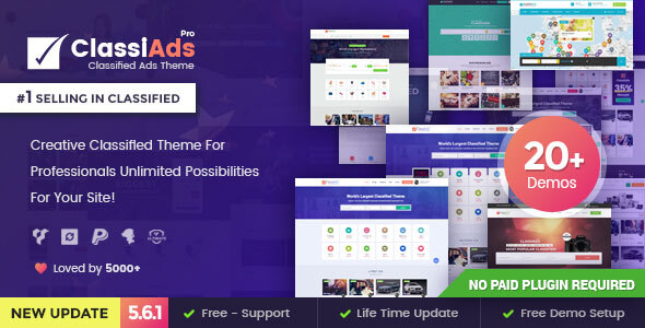 Download Classified WordPress Theme Nulled