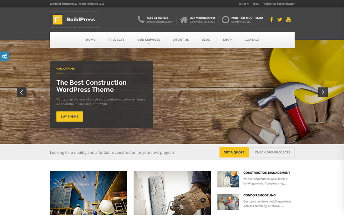 Download Construction WordPress Theme Nulled