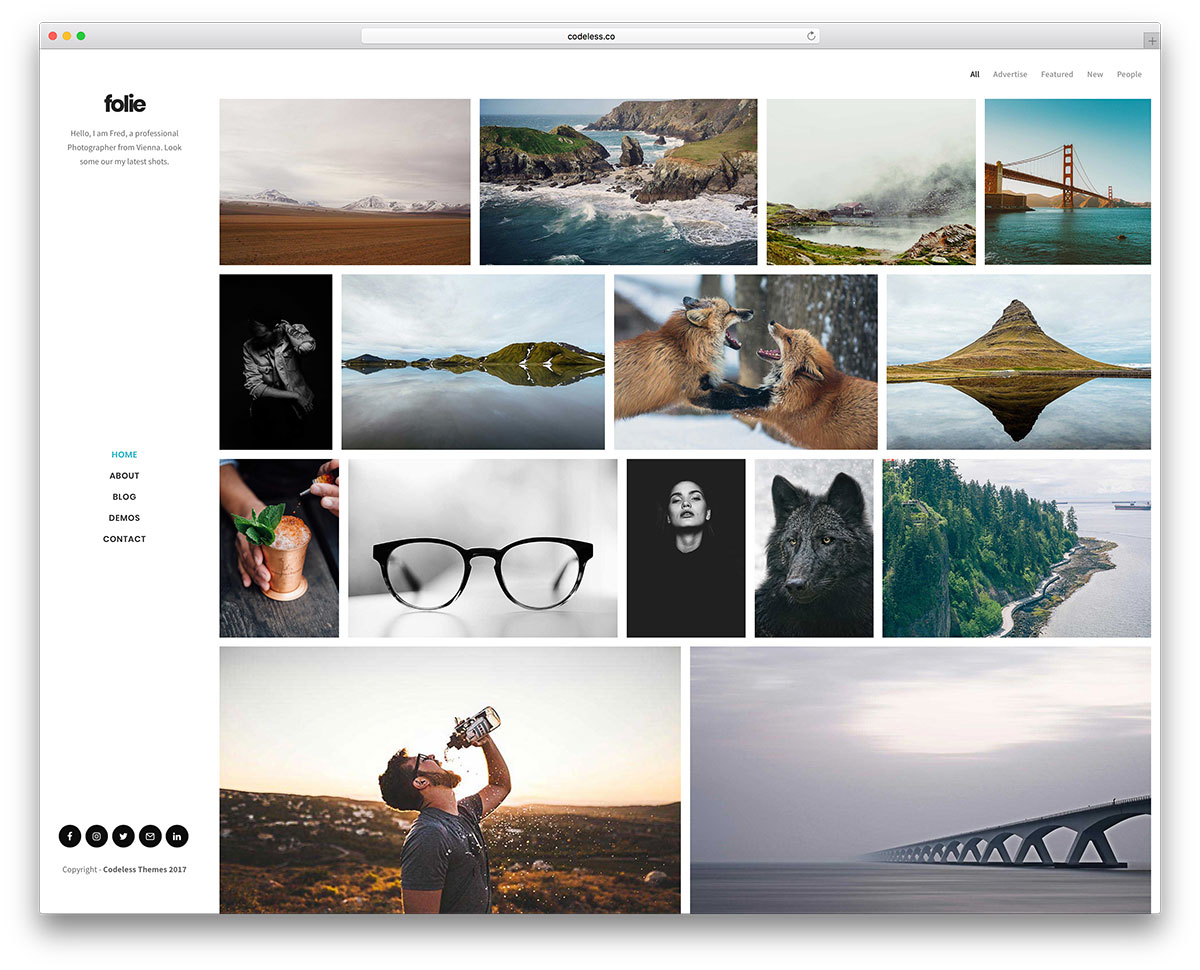 Download WordPress Theme For Photographers Nulled