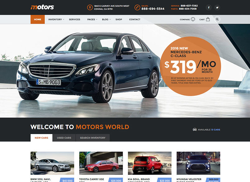 Download Car WordPress Theme Nulled