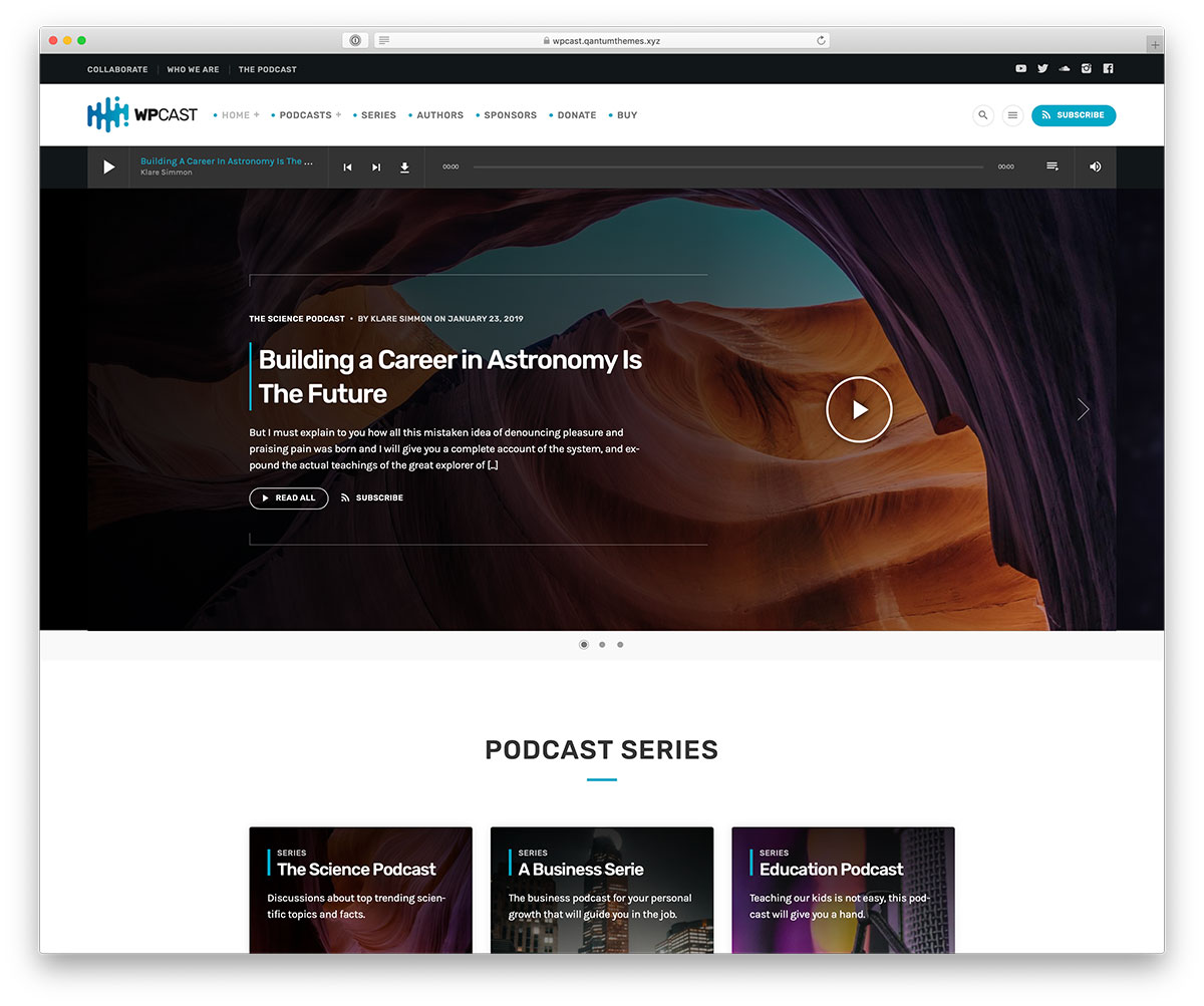 Download Podcasting WordPress Theme Nulled