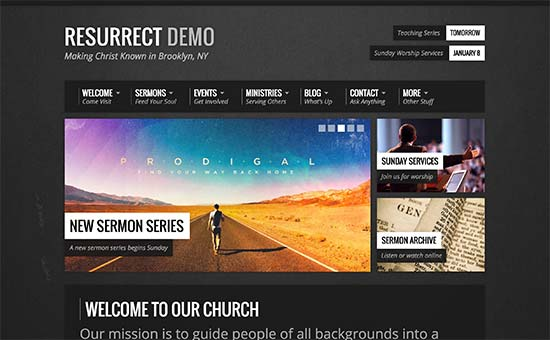 Download WordPress Theme For Churches Nulled