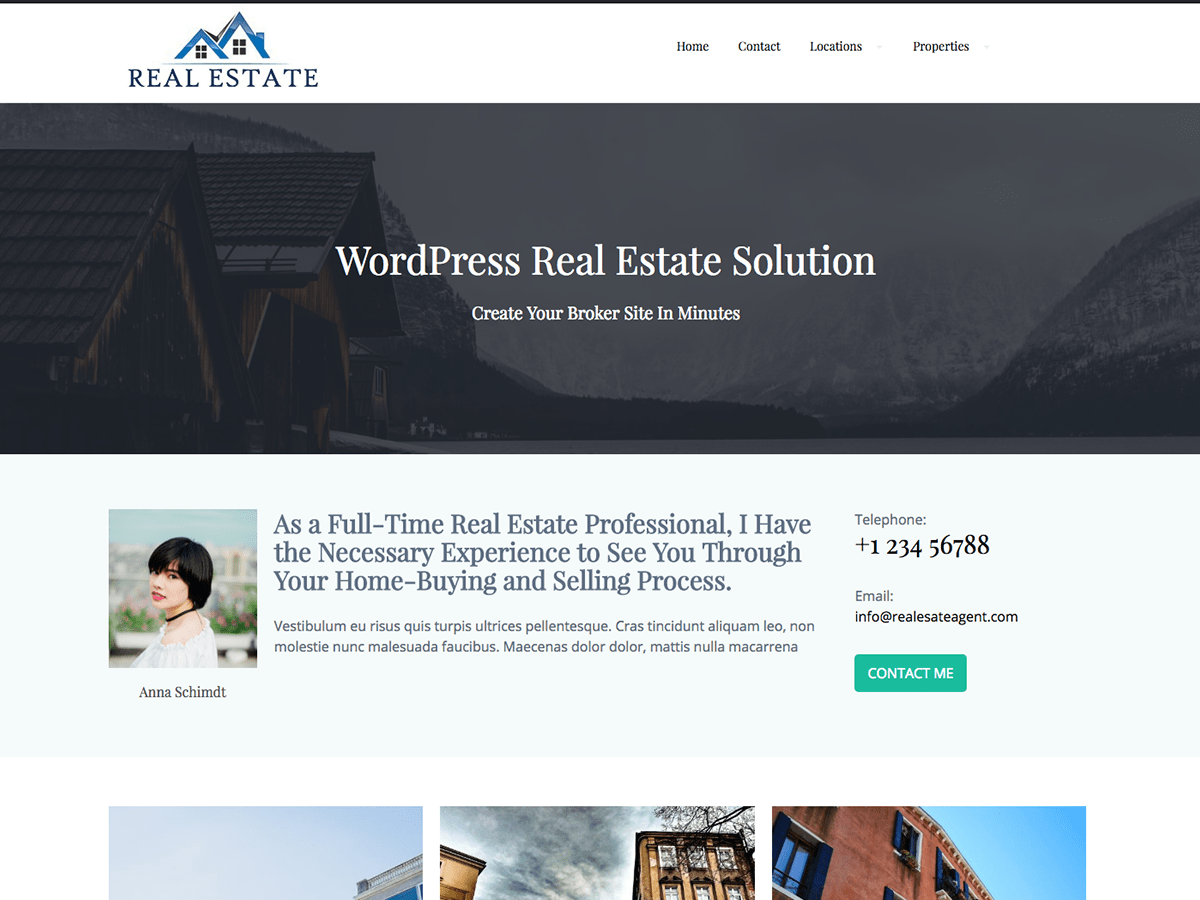 Download Real Estate Agent WordPress Theme Nulled