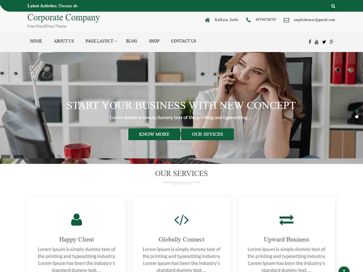 Download Company WordPress Theme Nulled