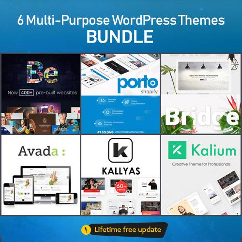 Download 6 Multi-Purpose WordPress Themes – BUNDLE Nulled