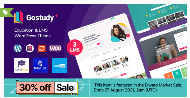 Download Gostudy – Education WordPress Theme Nulled