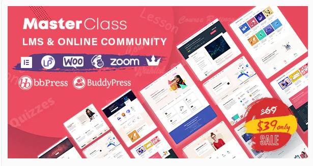 Download MasterClass – LMS & Education WordPress Theme Nulled