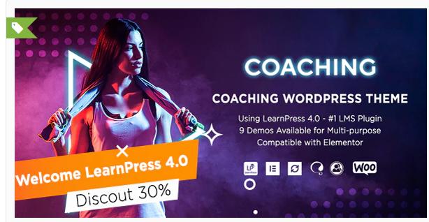 Download Coaching   Life & Fitness Coaching WordPress Theme Nulled